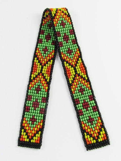 Warm Multicolored Beaded bookmark in a Native American inspired design