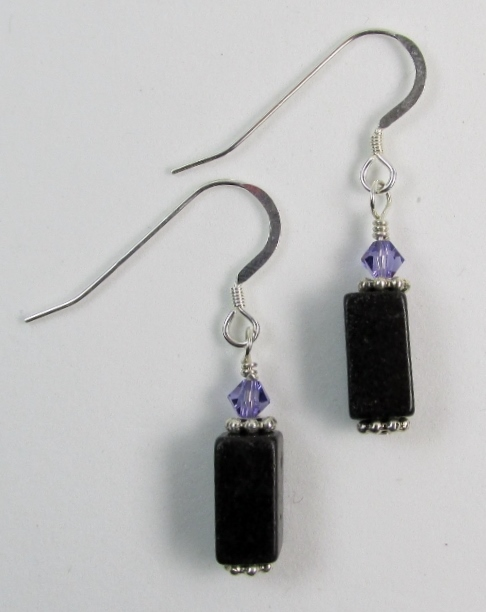 Blackstone and Swarovski Earrings