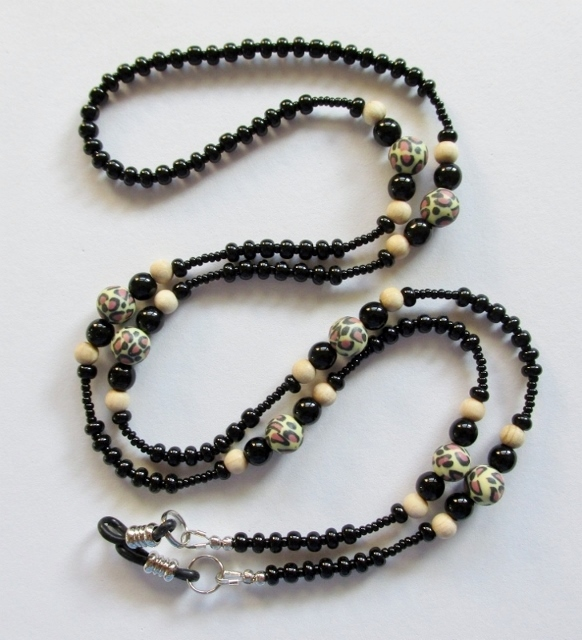 Leopard Print Beaded Eyeglass Necklace