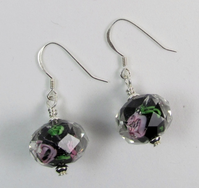 Clear Lampwork Earrings