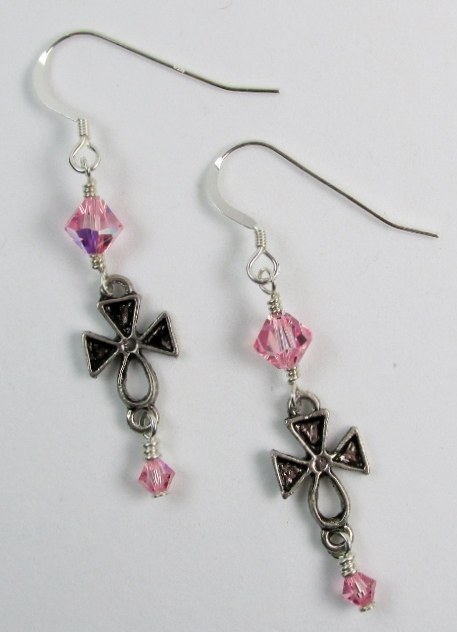 Celtic Crosses and Swarovski Earrings