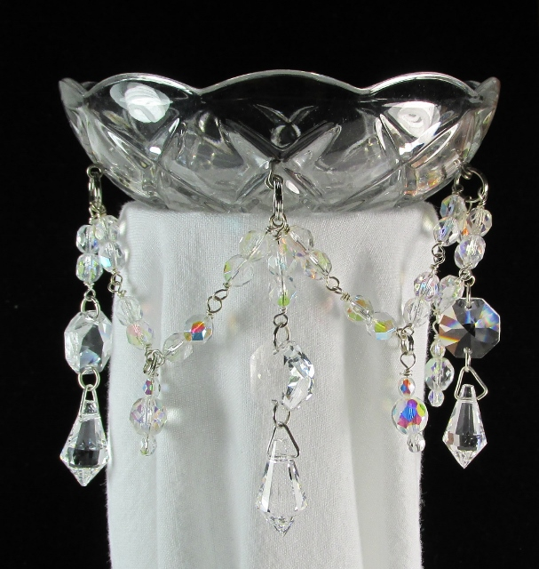 Crystal Bobeche Candle Wax Drip Catchers