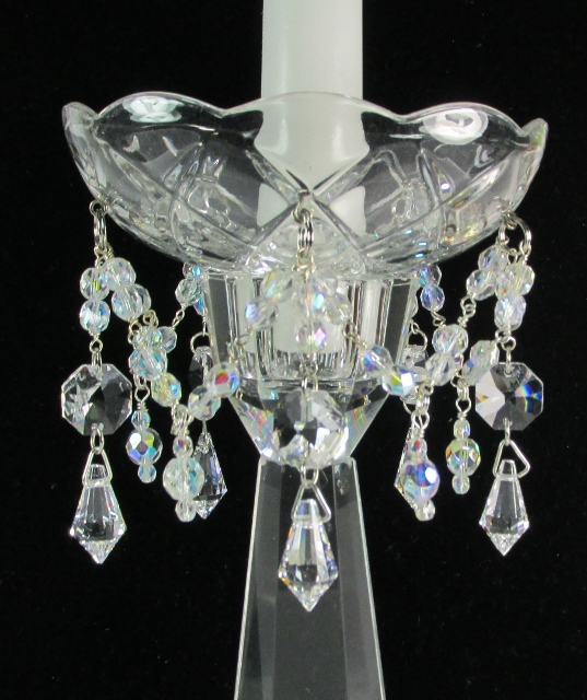 Crystal Bobeche with candle