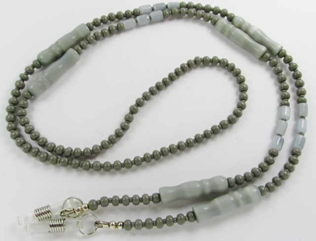 Gray Catseye Eyeglass Necklace