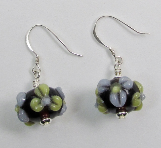 Lampwork Flowers Earrings