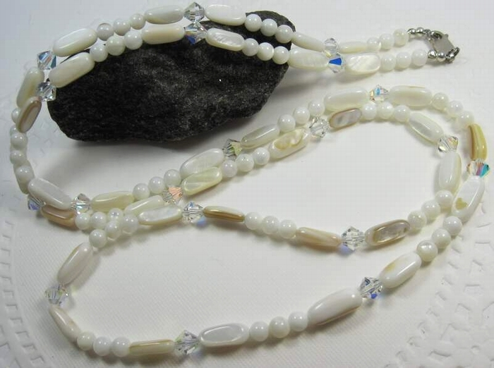 Swarovski and  Mother of Pearl necklace