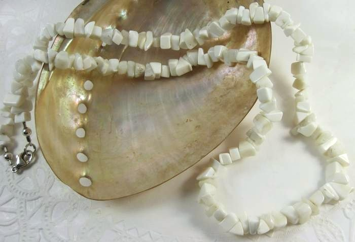 Natural  Clam Shell Unisex Necklace